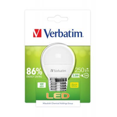 Verbatim led lamp: LED Mini Globe, E14, 3.5W - Wit