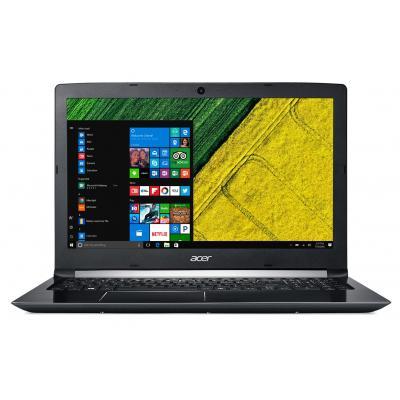 Acer laptop: Aspire A515-51-539W - Zwart, QWERTY