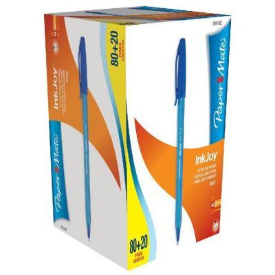 Papermate pen: Inkjoy 100 - Blauw, Doorschijnend