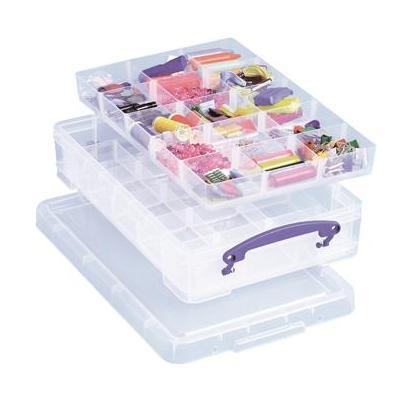 Really useful boxes archiefdoos: Gekleurde transparante kunststof, 4L - Blauw