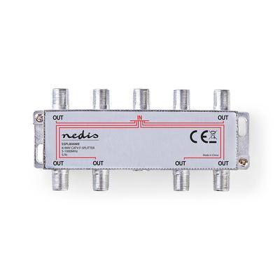 Nedis SSPL800ME Kabel splitter of combiner - Zilver
