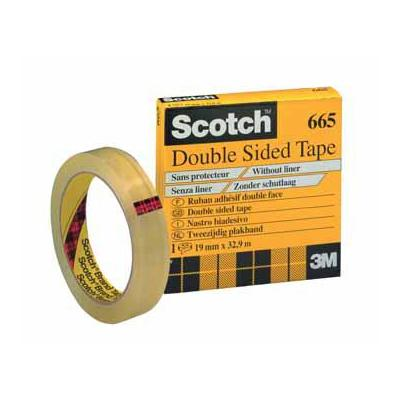 Scotch plakband: DUBBELZ.TAPE 19MMX33M
