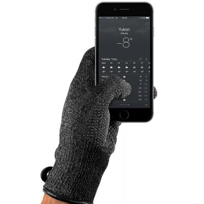 Mujjo : Double Layered Touchscreen Gloves, Size L - Zwart