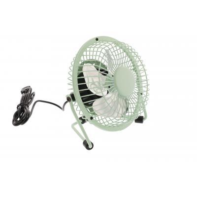 Hq ventilator: 2.5W, USB, 360°, Metal, 1m - Groen