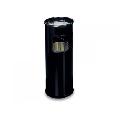 Durable asbak: Papierbak met asbak 17l zwart