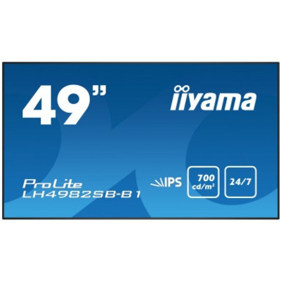 "Iiyama 49"", Full HD, 700 cd/m², 178°, 1093x71x623mm, 19kg Public display - Zwart"