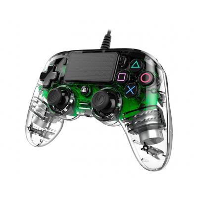 NACON Officieel gelicenseerde Illuminated Wired Compact Controller voor PS4 - groen