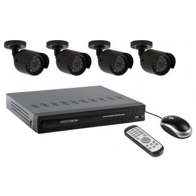 Valueline video toezicht kit: Security camera recording set equipped with built-in 500GB hard disk