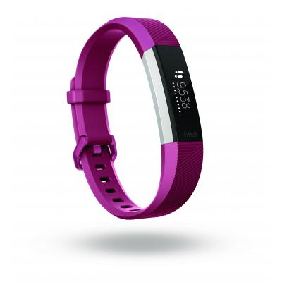 Fitbit wearable: Alta HR - Fuchsia, Roestvrijstaal
