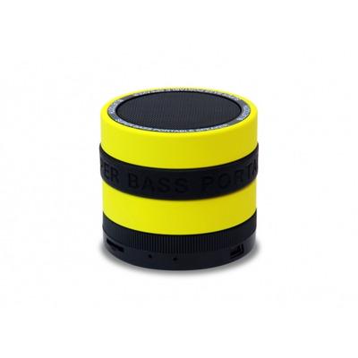 Conceptronic 3W RMS, Bluetooth 2.1, 400mAh, MicroSD Draagbare luidspreker - Zwart,Geel