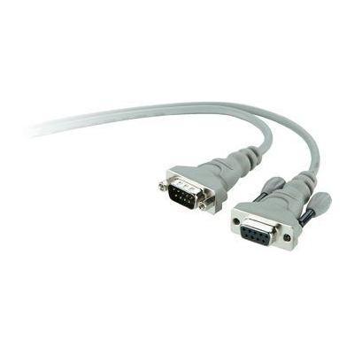 Belkin seriele kabel: PRO Series - seriële kabel, DB-9 (M) - DB-9 (F), 1.8 m - Grijs