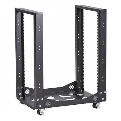 Black Box Mobile Open - 4-Post, 19U Rack - Zwart
