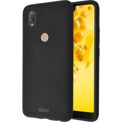 Azuri Flexible cover met zandtextuur - zwart- Wiko View 2 Mobile phone case