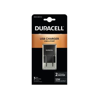 Duracell 2.1A USB Phone/Tablet Charger Oplader - Zwart
