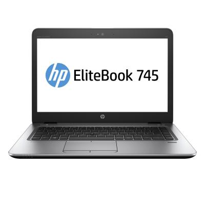 HP laptop: EliteBook EliteBook 745 G4 Notebook PC - Zwart, Zilver (Demo model)