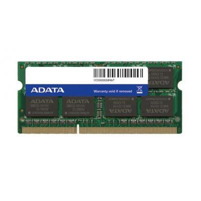 Adata RAM-geheugen: DDR3, 1600MHz 204-Pin, SO-DIMM, 4GB - Groen