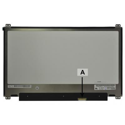"2-power notebook reserve-onderdeel: 33.782 cm (13.3 "") 1920x1080 Full HD Glossy - Zwart, Grijs"