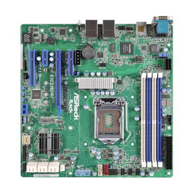 Asrock server/werkstation moederbord: Chipset Intel C236, 4 x DIMM DDR4, Dual, 64GB, SATA III, micro ATX, UEFI AMI .....