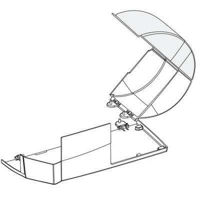 Intermec DOOR DOME ASSY 8 CPNT ENCLOSED MEDIA PF4IB (MSD) Printing equipment spare part - Grijs