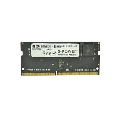 2-power RAM-geheugen: 4GB DDR4 2133MHZ, SODIMM, Unbuffered - Grijs