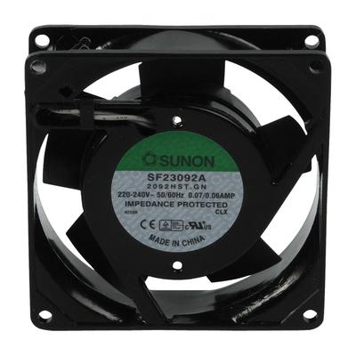 SUNON 36/39dB, 2550-2750RPM, 220-240V Hardware koeling - Zwart