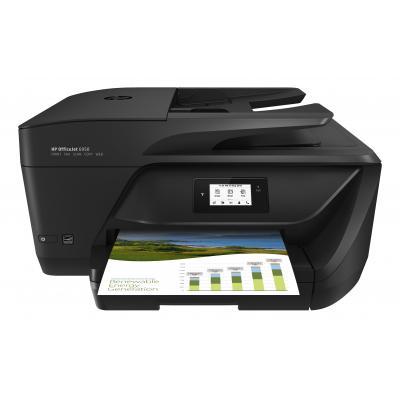 Hp multifunctional: OfficeJet OfficeJet 6950 All-in-One printer - Zwart, Cyaan, Magenta, Geel