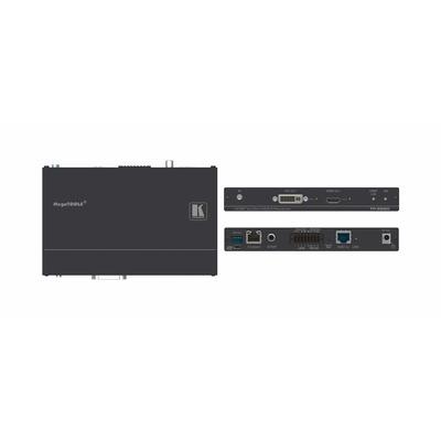 Kramer Electronics 4K60 4:2:0 HDMI/DVI PoE receiver, Ethernet, RS–232, IR AV extender - Zwart