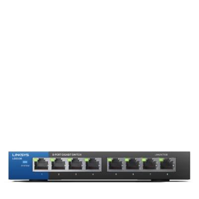 Linksys LGS108 Switch - Zwart,Blauw