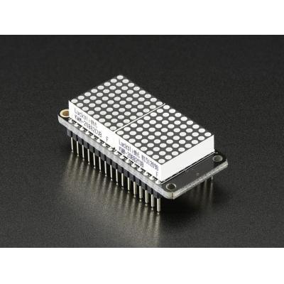 "Adafruit : 2.032 cm (0.8 "") 8x16 LED Matrix Display Kit, Blue"