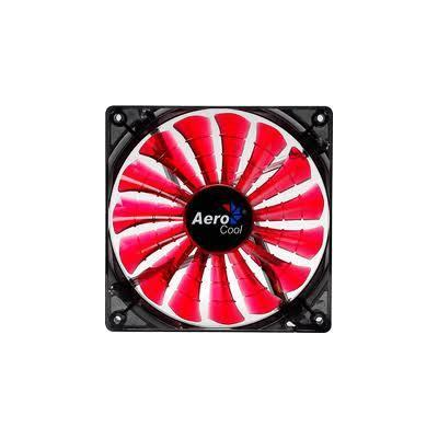 Aerocool Hardware koeling: Shark Fan Devil Red Edition 12cm - Zwart, Rood
