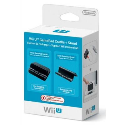 Nintendo spel accessoire: Wii U GamePad-oplaadstation en -standaard - Zwart