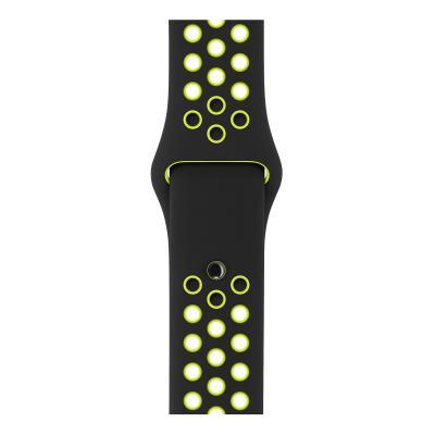 Apple : Zwart/volt sportbandje van Nike (42 mm) - Zwart, Limoen