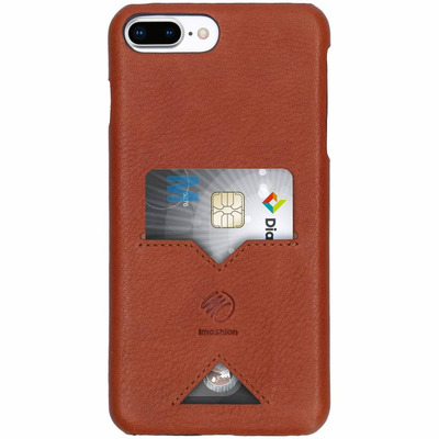 Leather Backcover iPhone 8 Plus / 7 Plus - Bruin / Brown Mobile phone case