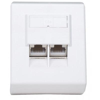 Intellinet Cat5e Surface Mount Box, 2-Port, FTP, White Wandcontactdoos - Wit