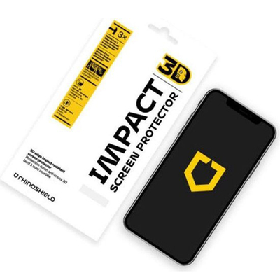 RhinoShield 3D Impact Screenprotector iPhone 12 (Pro) - Zwart / Black Screen protector