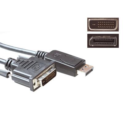 ACT Verloopkabel DisplayPort male – DVI male, 5.0m - Zwart