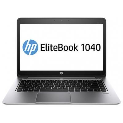 HP laptop: EliteBook Folio 1040 G2 - Intel Core i7 - Windows 8.1 Pro - Zilver