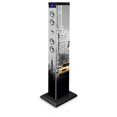 Bigben interactive home stereo set: Multimedia vloerstaande speaker met afbeelding van New York - Multi kleuren