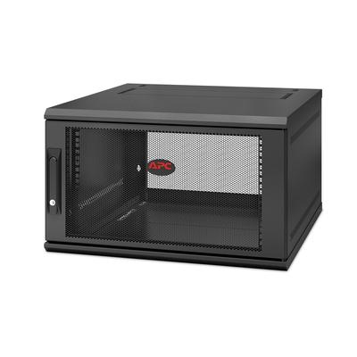 APC NetShelter WX AR106SH6, 6U/HE, 19inch Wandpatchkast, Geschikt voor muurbevestiging, Gemonteerd, 600mm diep Rack .....
