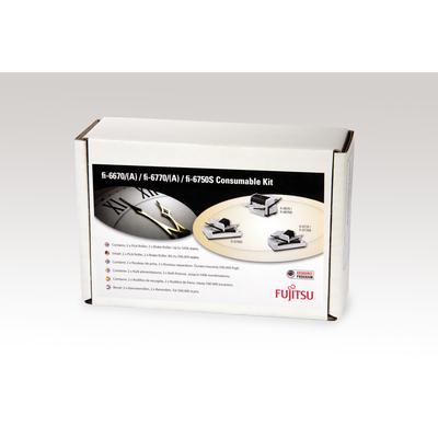 Fujitsu Set met verbruiksartikelen voor fi-6670, fi-6750S, fi-6770, fi-6670A, fi-6770A Printing equipment spare .....
