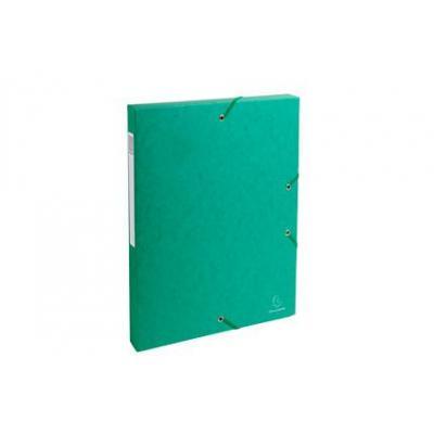 Exacompta archiefdoos: Archiefdoos Rug 25mm versterkt karton - A4 - Groen