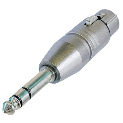 Neutrik 3p XLR NA3FP adapter Kabel adapter - Zilver