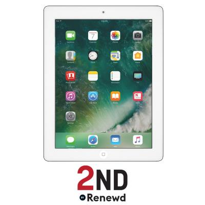 2nd by renewd tablet: Apple iPad 4 Wifi + 4G refurbished door 2ND - 16GB Zilver - Wit (Refurbished AN)