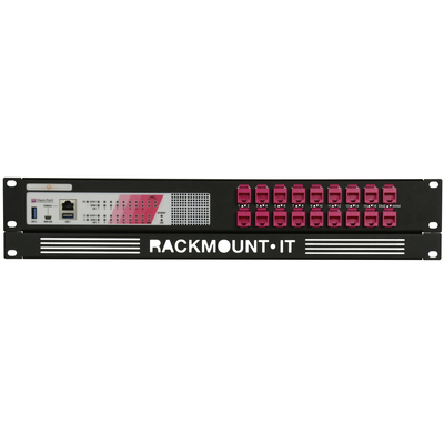 Rackmount.IT 2U, 18x RJ45, 18x 0.5m Kabels, RAL 4003 Check Point Roze Rack toebehoren