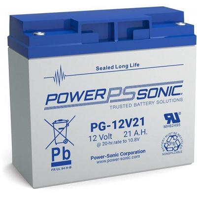 Power-Sonic PG-12V21 UPS batterij - Blauw, Grijs