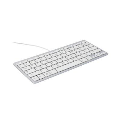 R-go tools toetsenbord: Compact Toetsenbord,  (BE), wit, Bedraad - AZERTY