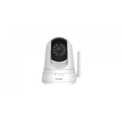 "D-Link 1/5"" CMOS, IR, 4X digital zoom, 640 x 480, Pan/Tilt Beveiligingscamera - Zwart, Wit"