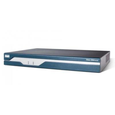Cisco router: 1841 - Zwart, Blauw, Roestvrijstaal (Open Box)