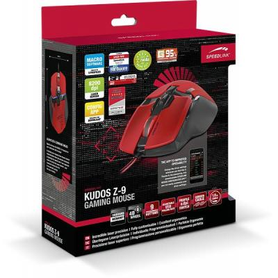 Speed-link computermuis: KUDOS Z-9 - Rood