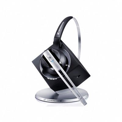 Sennheiser DW Office Headset - Zwart, Geborsteld staal